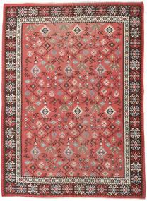 Kelim Rysk Matta 230X312 Äkta Orientalisk Handvävd Roströd/Mörkröd (Ull, Azarbaijan/Ryssland)