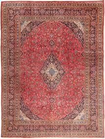 Mashad Matta 295X390 Äkta Orientalisk Handknuten Mörkröd/Ljusbrun Stor (Ull, Persien/Iran)