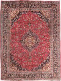 Mashad Matta 295X395 Äkta Orientalisk Handknuten Mörkröd/Brun Stor (Ull, Persien/Iran)