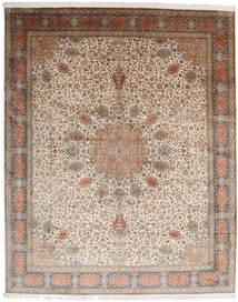 Kashmir Äkta Silke Matta 250X309 Äkta Orientalisk Handknuten Ljusgrå/Brun Stor (Silke, Indien)