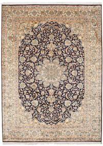 Kashmir Äkta Silke Matta 174X239 Äkta Orientalisk Handknuten Ljusgrå/Ljusbrun (Silke, Indien)