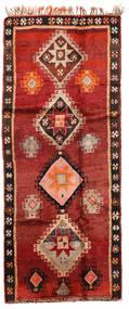 Herki Vintage Matta 166X403 Äkta Orientalisk Handknuten Hallmatta Mörkröd/Roströd/Mörkbrun (Ull, Turkiet)