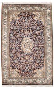 Kashmir Äkta Silke Matta 98X155 Äkta Orientalisk Handknuten Ljusgrå/Vit/Cremefärgad (Silke, Indien)