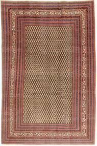 Arak Patina Matta 212X320 Äkta Orientalisk Handknuten Mörkröd/Ljusbrun (Ull, Persien/Iran)