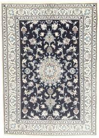 Nain Matta 145X206 Äkta Orientalisk Handknuten Ljusgrå/Mörkgrå (Ull, Persien/Iran)