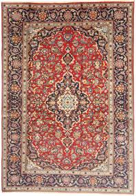 Keshan Matta 198X292 Äkta Orientalisk Handknuten Ljusbrun/Beige (Ull, Persien/Iran)