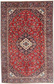 Keshan Matta 185X290 Äkta Orientalisk Handknuten Mörkröd/Mörkbrun (Ull, Persien/Iran)