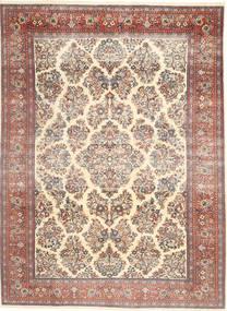 Sarough Patina Matta 200X280 Äkta Orientalisk Handknuten Beige/Mörkbrun (Ull, Persien/Iran)