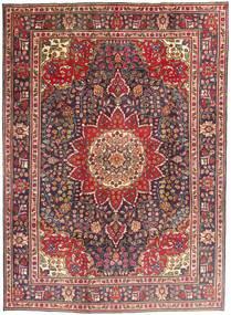 Tabriz Matta 212X292 Äkta Orientalisk Handknuten Mörkröd/Mörkbrun (Ull, Persien/Iran)