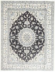 Nain Matta 195X251 Äkta Orientalisk Handknuten Ljusgrå/Beige/Mörkgrå (Ull, Persien/Iran)