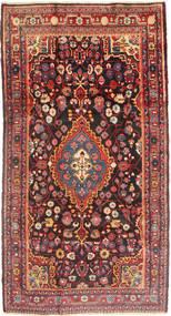 Jozan Matta 162X298 Äkta Orientalisk Handknuten Mörkröd/Mörkbrun (Ull, Persien/Iran)