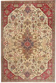 Tabriz Patina Matta 190X280 Äkta Orientalisk Handknuten Ljusbrun/Mörkbeige (Ull, Persien/Iran)