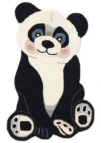 Panda Baby Matta 100X160 Modern Mörkgrå/Beige (Ull, Indien)