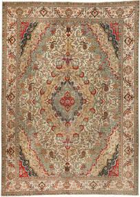 Tabriz Patina Matta 300X422 Äkta Orientalisk Handknuten Brun/Ljusbrun Stor (Ull, Persien/Iran)