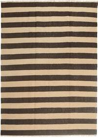 Kelim Matta 168X236 Äkta Orientalisk Handvävd Mörkbrun/Beige (Ull, Persien/Iran)