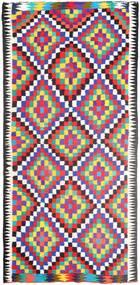 Kelim Matta 156X313 Äkta Orientalisk Handvävd Hallmatta Beige/Lila (Ull, Persien/Iran)
