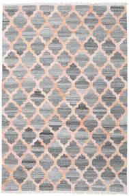 Utomhusmatta Kathi - Grå/Coral Matta 200X300 Äkta Modern Handvävd Ljusgrå/Mörkgrå/Ljusrosa ( Indien)