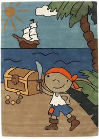 Pirate Handtufted Matta 170X240 Modern Ljusbrun/Blå (Ull, Indien)