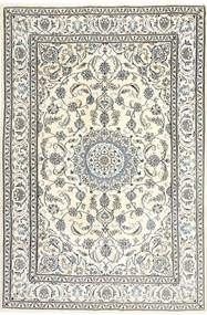 Nain Matta 195X300 Äkta Orientalisk Handknuten Beige/Ljusgrå/Mörkgrå (Ull, Persien/Iran)