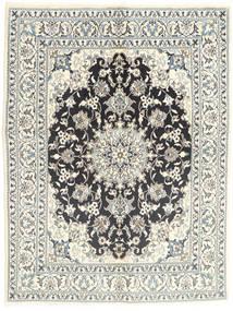 Nain Matta 145X196 Äkta Orientalisk Handknuten Ljusgrå/Beige (Ull, Persien/Iran)