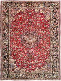 Najafabad Matta 296X390 Äkta Orientalisk Handknuten Mörkröd/Roströd Stor (Ull, Persien/Iran)