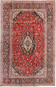 Keshan Matta 196X307 Äkta Orientalisk Handknuten Roströd/Mörkröd (Ull, Persien/Iran)