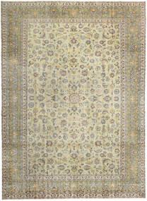 Keshan Patina Matta 293X405 Äkta Orientalisk Handknuten Ljusgrå/Mörkbeige/Olivgrön Stor (Ull, Persien/Iran)