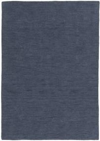 Kelim Loom - Denim Blå Matta 140X200 Äkta Modern Handvävd Blå (Ull, Indien)