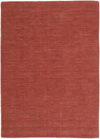 Kelim Loom - Rost Matta 140X200 Äkta Modern Handvävd Mörkröd (Ull, Indien)