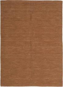 Kelim Loom - Brun Matta 160X230 Äkta Modern Handvävd Brun (Ull, Indien)