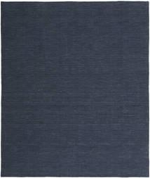 Kelim Loom - Denim Blå Matta 250X300 Äkta Modern Handvävd Mörkblå/Blå Stor (Ull, Indien)