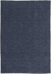 Kelim Loom - Denim Blå Matta 300X400 Äkta Modern Handvävd Mörkblå/Blå Stor (Ull, Indien)