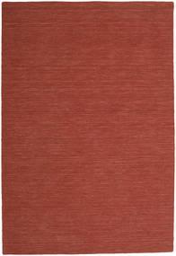 Kelim Loom - Rost Matta 300X400 Äkta Modern Handvävd Mörkröd Stor (Ull, Indien)