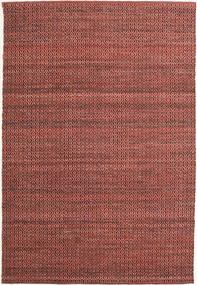 Alva - Dark_Rust/Svart Matta 160X230 Äkta Modern Handvävd Mörkröd/Mörkbrun (Ull, Indien)