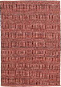 Alva - Dark_Rust/Svart Matta 140X200 Äkta Modern Handvävd Mörkröd/Roströd (Ull, Indien)