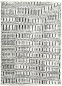 Alva - Vit/Svart Matta 140X200 Äkta Modern Handvävd Mörkgrå/Ljusgrå (Ull, Indien)