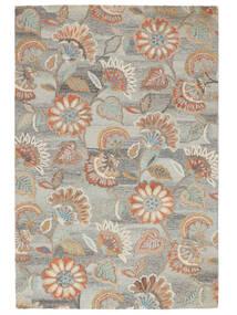 Rusty Flowers - Grå/Rost Matta 200X300 Modern Ljusgrå/Mörkbeige (Ull, Indien)