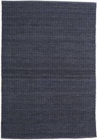 Alva - Blå/Svart Matta 140X200 Äkta Modern Handvävd Mörkblå/Lila (Ull, Indien)
