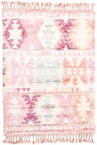 Märta - Rosa Matta 120X180 Äkta Modern Handknuten Beige/Ljusrosa (Ull, Indien)