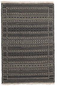 Kelim Matta 80X123 Äkta Orientalisk Handvävd Svart/Mörkgrå/Ljusgrå (Ull, Persien/Iran)