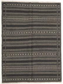 Kelim Matta 155X210 Äkta Orientalisk Handvävd Mörkgrå/Svart (Ull, Persien/Iran)
