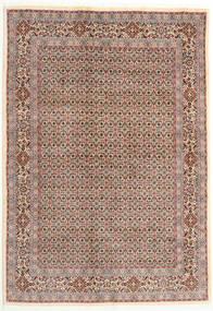 Moud Matta 166X238 Äkta Orientalisk Handknuten Mörkröd/Ljusgrå (Ull/Silke, Persien/Iran)