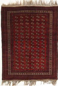 Afghan Khal Mohammadi Matta 134X180 Äkta Orientalisk Handknuten Mörkröd (Ull, Afghanistan)