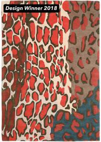 Tilda - 2018 Matta 160X230 Modern Mörkgrå/Röd (Ull, Indien)