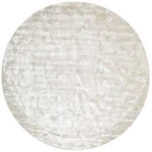 Crystal - Silvervit Matta Ø 250 Modern Rund Ljusgrå/Mörkbeige/Beige Stor ( Indien)