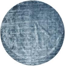 Crystal - Stålblå Matta Ø 250 Modern Rund Mörkblå/Ljusblå/Blå Stor ( Indien)