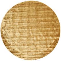 Crystal - Guld Matta Ø 250 Modern Rund Ljusbrun/Mörkbeige Stor ( Indien)