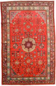 Samarkand Vintage Matta 161X250 Äkta Orientalisk Handknuten Roströd/Mörkröd (Ull, Kina)