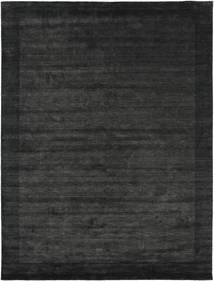 Handloom Frame - Svart/Mörkgrå Matta 200X300 Modern Mörkgrå/Mörkgrön (Ull, Indien)