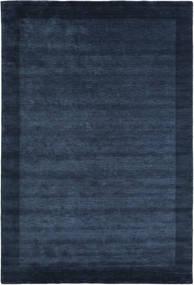 Handloom Frame - Mörkblå Matta 300X400 Modern Mörkblå/Blå Stor (Ull, Indien)